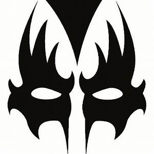 Gene simmons kiss makeup stencil bing images gene for Kiss mask template