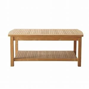 Table Basse De Jardin Bois Figari Maisons Du Monde