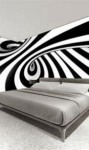 Wallpaper Rolls & Sheets Home & Garden Black and white 3D ...