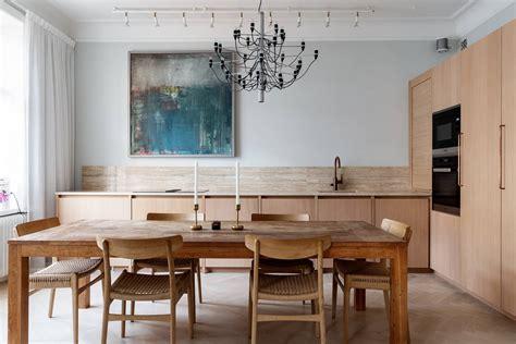 Skandināvu stila virtuve bez sienas skapīšiem - Skandināvu ...