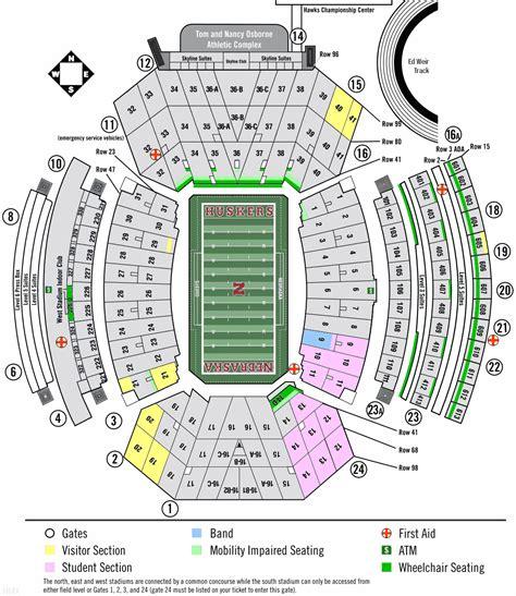 nebraska memorial stadium seating chart  rows brokeasshomecom