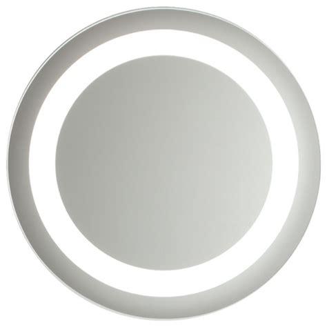 Large Circular Lighted Mirror Contemporary Bathroom