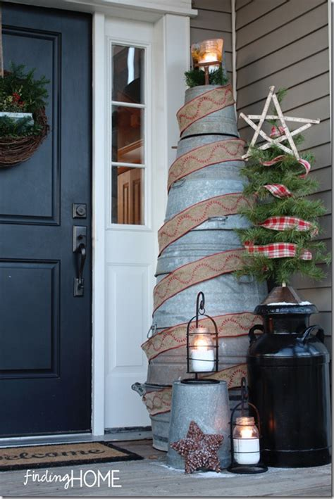 galvanized tub christmas tree finding home farms