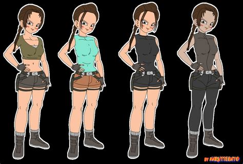 Lara Croft Tomb Raider Dbz Style By Naruttebayo67 On