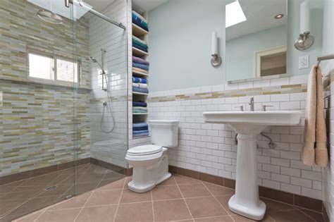 barrier free shower stall traditional bathroom new