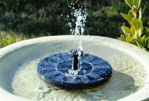 fontaine solaire de jardin  choix sage  ecolo