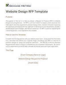 website design rfp template With rfp presentation template
