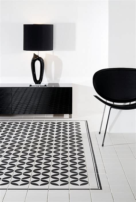 black and white tile floor car interior design