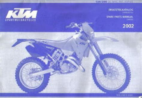 Ktm Mxc Exc Sgp Chassis Spare Parts Manual