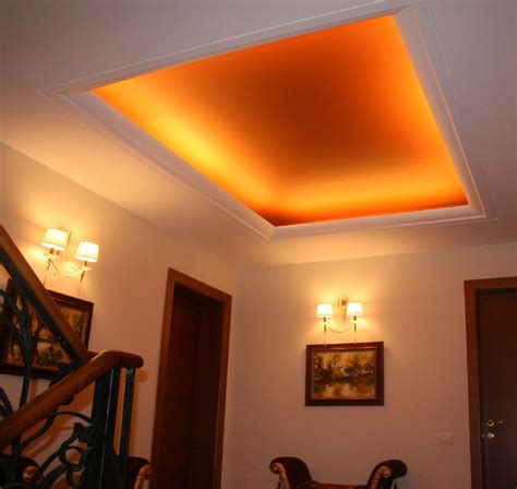 tray ceiling decor with fort lauderdale crown molding and indirect lighting ceiling design