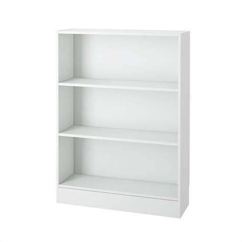 Wide White Bookcase wide 3 shelf bookcase in white 7177649