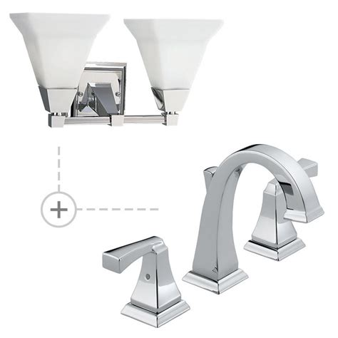 Matching Bathroom Fixtures by Delta 3551lf P3136 15 Chrome Dryden Widespread Bathroom