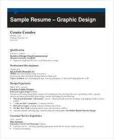 resume graphic designer pdf sle graphic designer resume 9 exles in word pdf