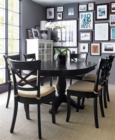 avalon 45 quot black round extension dining table pedestal