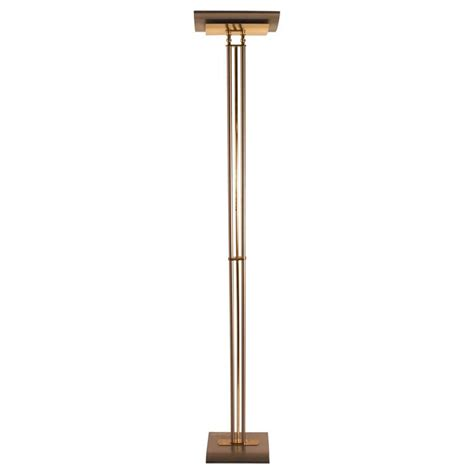 italian made halogen floor l torchiere brass and steel