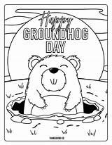 Groundhog Coloring Pages Dogman Printables Happy Dog Preschoolers Adorable Print Spring Whitesbelfast sketch template