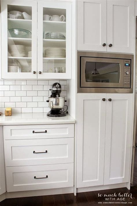 built in kitchen cabinets microwaves pantry and cabinets on pinterest