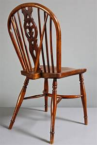 Pair, Of, Antique, Yew, Wood, Windsor, Side, Chairs