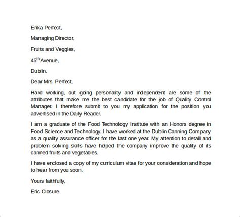 professional cover letter template examples