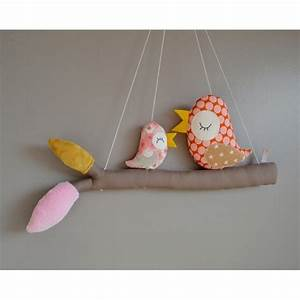 Mobile Chambre Bébé : mobile fait main avec des oiseaux perch s sur leur branche pour d corer la chambre de b b ~ Teatrodelosmanantiales.com Idées de Décoration