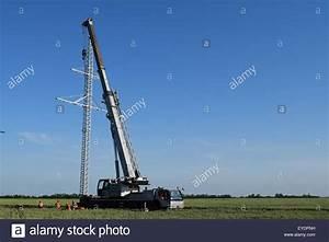 The Elevator Crane On A Truck Platform Stock Photo