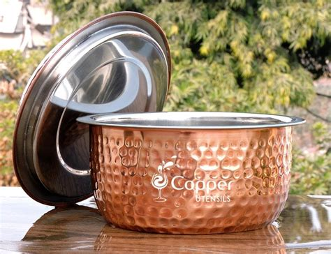 pure copper  stainless steel casserole pot  lid