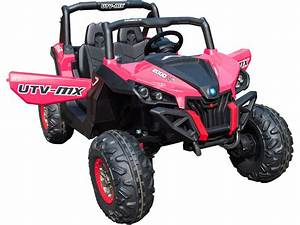 Mini Moto Utv 4x4 12v Pink  2 4ghz Rc