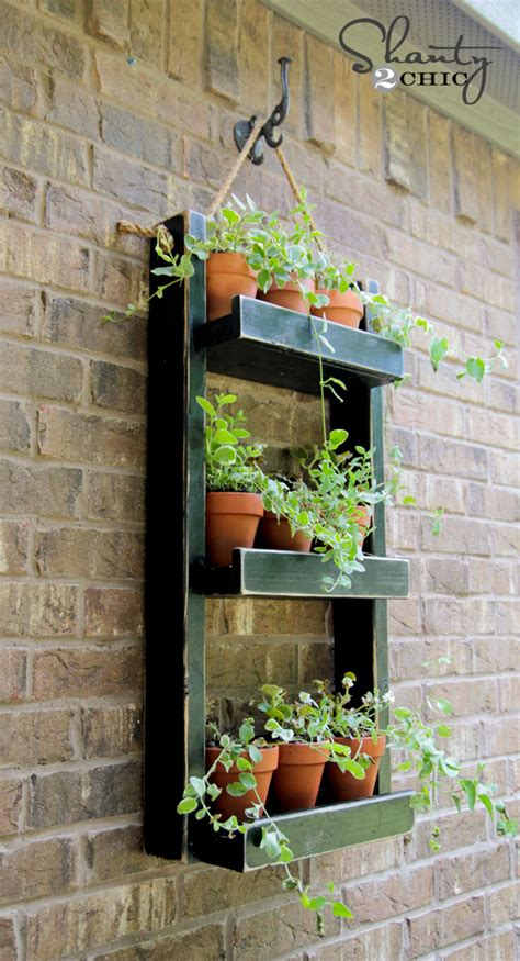 fence hanging planters wood planter for the wall shanty 2 chic