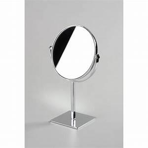 Miroir à Poser : miroir rond double face poser comptoir table agencement magasin ~ Teatrodelosmanantiales.com Idées de Décoration