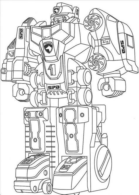 assemble fighting robot coloring pages  place  color