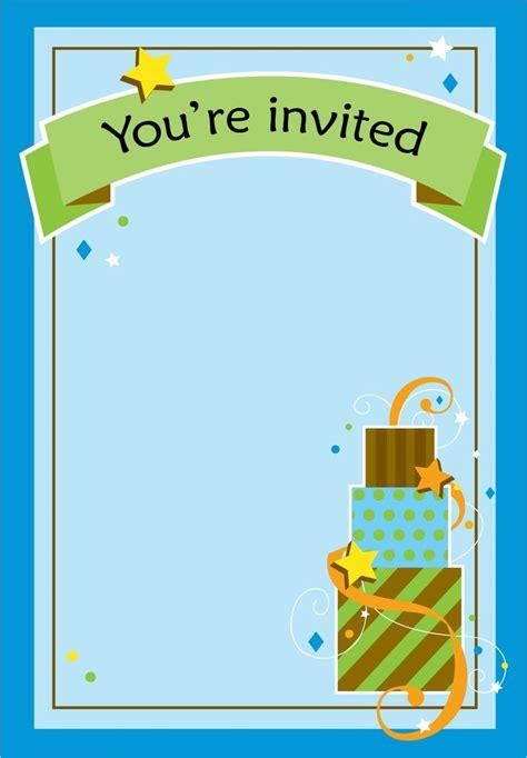 printable boy fun birthday invitation birthday