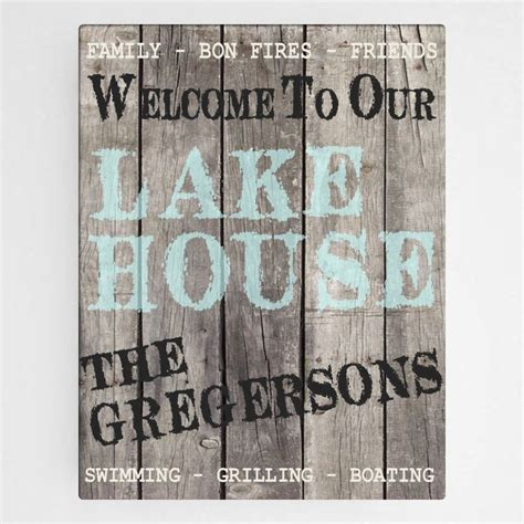 personalized lake house canvas wall hanging sign cabin decor free shipping ebay