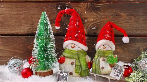 wallpaper christmas decoration santa snowmen