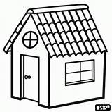 Coloring Log Roof Cabin Tile Huis Clipart sketch template