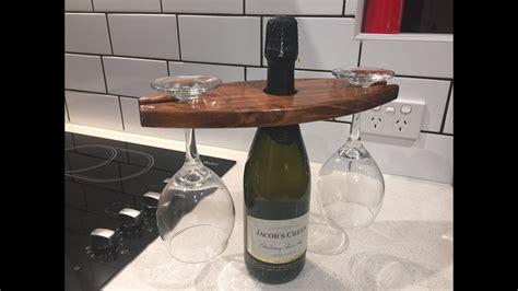 making  wine glass holder youtube