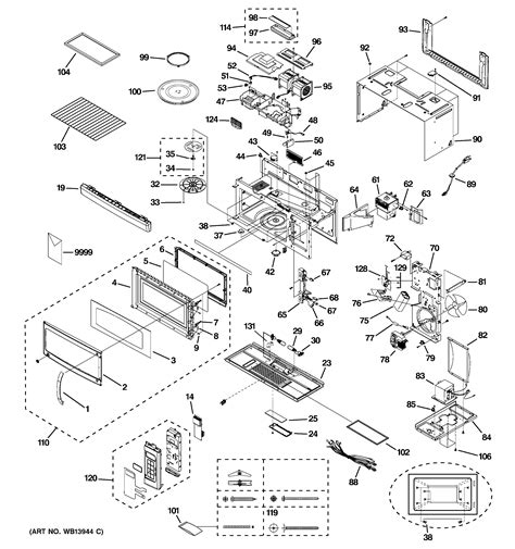 Ge Microwave Oven Wiring Diagram by Ge Profile Microwave Parts Diagram Bestmicrowave