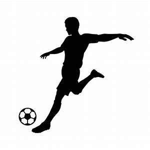15.2CM*15.4CM Silhouette Soccer Player Kicking Ball Vinyl ...