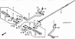 Honda Atv 1985 Oem Parts Diagram For Footpeg    Brake Pedal