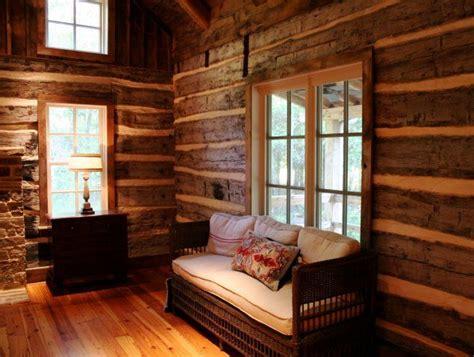bedroom  historic log home restoration  chambers