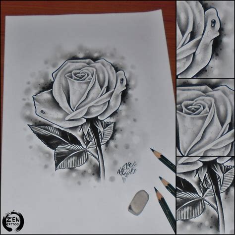 Realistic Rose Pencil Drawing By Blazeovsky On Deviantart