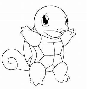Pokemon, Ausmalbilder, Schiggy