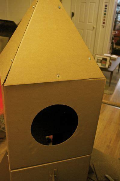build  cardboard cat rocket