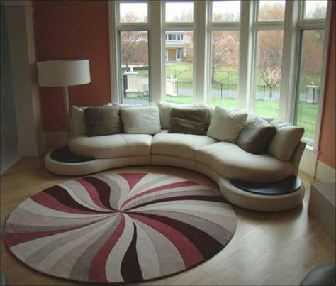 tapis rond shaggy la touche de douceur  du confort