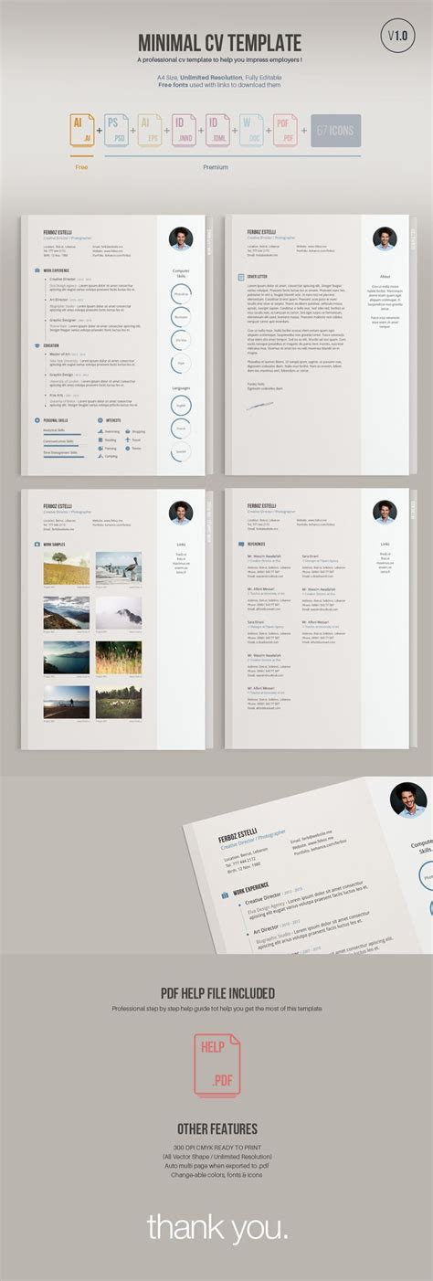 a minimal easy to edit free resume template free version