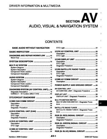 Infiniti Audio Visual System Section Pdf