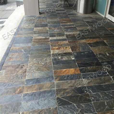 multicolor slate floor tilepaving stone  interior