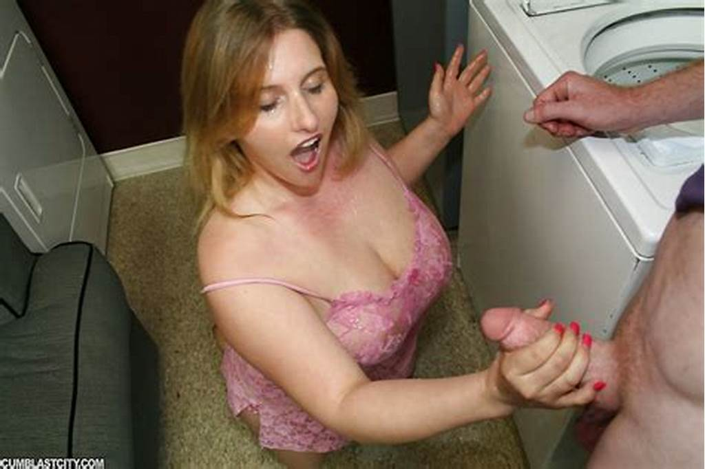 #Chubby #Teen #Babe #Jerking #Off #A #Hard #Cock #And #Getting #A