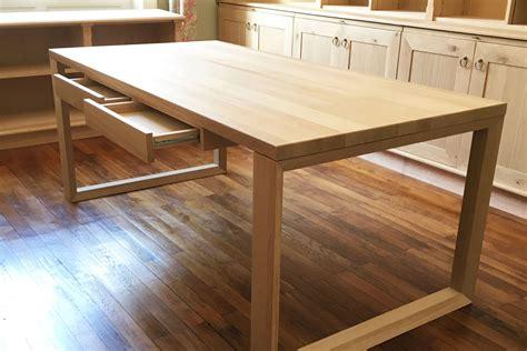 plateau bureau bois fabrication bureau bois sur mesure avec laboutiquedubois com