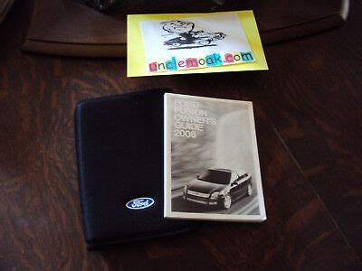 ford fusion  se sel  cyl owners manual