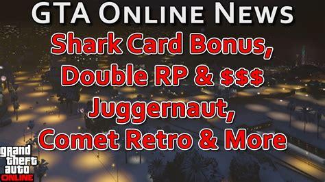 Shark Card Bonus, Double Rp & $ Juggernaut, Comet Retro